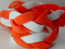 NEW! Orange White Braided Hair Band Head Under Sweaty Headband Armour Non Slip