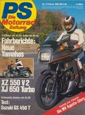 PS8202 + Fahrberichte/Technik YAMAHA XJ 650 Turbo + XZ 550 V2 + PS 2/1982