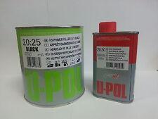 2K Primer Car Paint U-Pol High Build 1.25lt kit Black -UK Mainland Delivery