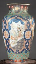 "Antique Japanese Imari Fukagawa Palace Vase 30"", Ca 1880"