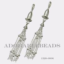 Authenitc Chamilia Sterling Silver Earring Bead Drop Tassel 1320-0006