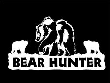 Bear Hunter Decal Bears car truck window vinyl hunting stickers
