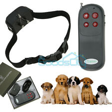 4 In 1 Remote Small/Med Anti-barking Dog Training Shock Vibrate Collar Trainer
