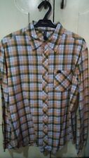 RVCA long sleeve button down plaid shirt Small