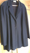 Leichte, legere Blusenjacke schwarz-silber, Gr. 48 NEUwertig