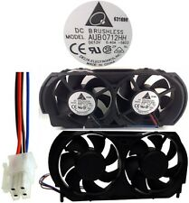 NEW 4pin Dual Cooling Fan Delta AUB0712HH-5B22 for Microsoft XBOX 360 Console