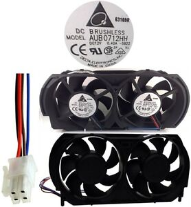 NEW 4pin Dual Cooling Fan X801127-001,X801127001 for Microsoft XBOX 360 Console