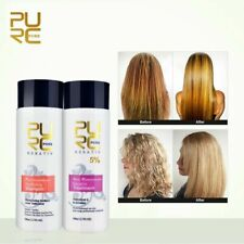 Straightening Hair Repair Brazilian keratin treatment + purifying shampoo PURE