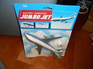 Vintage Jumbo Jet Tran Lufthansa Airbus Battery Operated