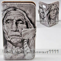 For Apple iPhone Series - American Indian Print Wallet Mobile Phone Case Cover