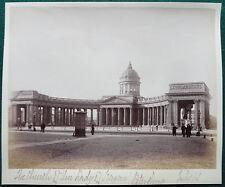 Kazan Cathedral St Petersburg Russia Antique Albumen Photo 1890 Russian Orthodox