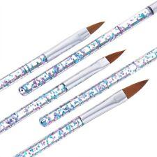 5Pcs  Nail Art Crystal Brush UV Gel Builder Painting Dotting Pen Carving Tips US