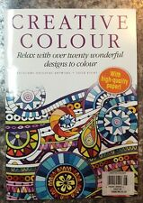 Creative Colour Relax With 20 Designs Flowers Issue 8 2016 FREE SHIPPING JB