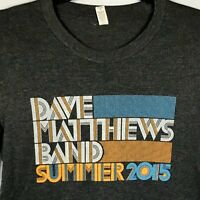 Dave Matthews Band Summer 2015 T-shirt gray Sz Small Pop Rock Music Concert