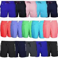 Mens Summer Swimming Swim Shorts Plain Striped Zip Pockets Various Styles S-XXL