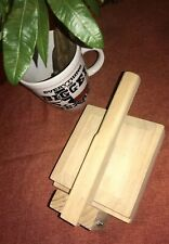 "Tortilla Press, Super Heavy Duty MADE IN MEXICO. "" Quality Wooden "" 7x7"