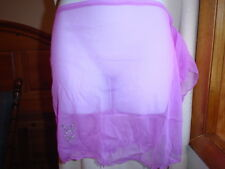 Playboy Sheer Swim Sarong Size 6/Medium Light Purple NWT