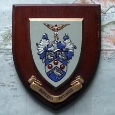 Vintage RAF Royal Air Force Superna Petimus Staff College Crest Shield Plaque