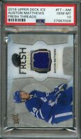2016-17 upper deck ice fresh faces #ft-am AUSTON MATTHEWS leafs rookie PSA 10