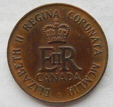 1953 Canada Queen Elizabeth II Coronation Medallion Token Coin  SB6112