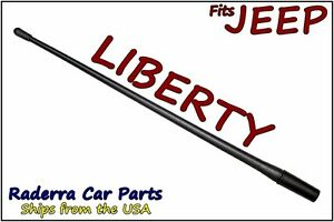 "FITS: 2002-2007 Jeep Liberty - 13"" SHORT Custom Flexible Rubber Antenna Mast"