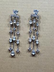 Ohrhänger 925 Silber  Strass Ohrringe Ohrschmuck