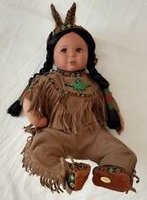 Native American Indian Doll Brave and Free Gregory Perrillo Danbury Mint