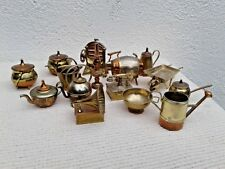 VINTAGE COLLECTION OF 16 VARIOUS MINIATURE METAL BRASS COPPER DOLLHOUSE ITEMS