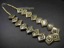 N4144 LONG Bold Fashion Square shape Tribal Boho Bone handmade Necklace TIBETAN