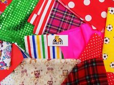 Fabric Material Off Cuts Scraps Various Card making Hobby Crafts Mixed Pieces