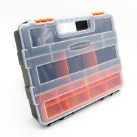 Plastic Carry Tool Storage Case Spanner Screw Parts Hardware Organizer Box Kit