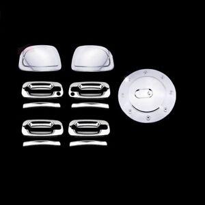AAL 02-06 CADILLAC ESCALADE MIRROR CAP+4DRS HANDLE W/PSGKH+GAS TANK CHROME COVER