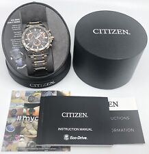 NEW Citizen Eco-Drive AT4109-54E Men's 43mm Rose Tone Atomic Watch