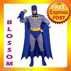 C400 The Batman Brave & Bold Muscle Chest Men Fancy Halloween Adult Costume M L