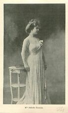 Portrait Mademoiselle Juliette Toutain à Paris GRAVURE ANTIQUE OLD PRINT 1903