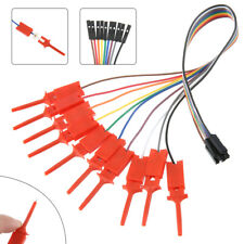 10pc High Efficiency Logic Analyzer Cable Gripper Probe Test Hook Clip Kit Tool