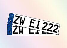 2 Stück Auto Kennzeichen 52cm I 1 Pärchen I 1Satz I PKW I Schilder I Alle Marken