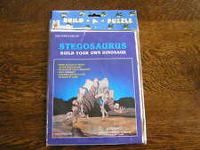 3-D Paper Board Puzzle 2 Sheets Build Your Own Dinosaur STEGOSAURUS ~~NIP!!!