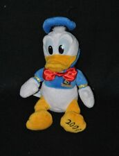 Peluche doudou Donald 45 ans de DISNEYLAND année 2000 blanc bleu jaune 22cm TTBE