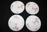 "Set of 4 Edwardian MOSER BROTHERS Britannia Hard Paste Porcelain 8"" Plates"