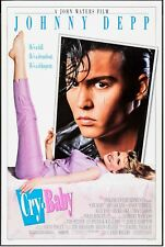 """CRY-BABY, JOHNNY DEPP Universal, 1990, 27"""" X 41"""", DS. Comedy"""