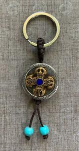 Mongolian Keychain Buddhist Double Vajra Indestructibility irresistible force