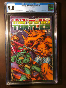 TEENAGE MUTANT NINJA TURTLES #6  CGC 9.8 WP Mirage
