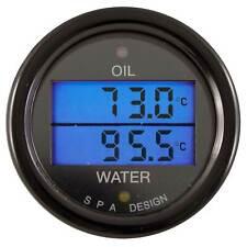 SPA Design Oil Temperature & Water Temperature Dual Gauge - Race/Rally
