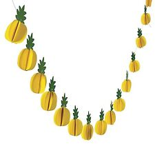 MINI PINEAPPLE GARLAND BANNER HANGING DECORATION HAWAIIAN LUAU TROPICAL PARTY