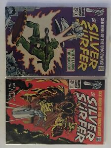 Silver Surfer Lot 1968 #2, 3 1stBadoon, 1st Mephisto, VF- 7.5 KeyIssues,Avengers