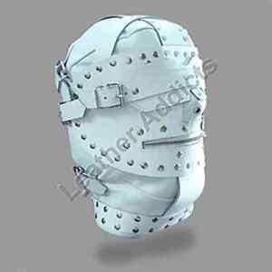 Bondage Hood Gimp Mask with Blindfold And Locking Mouth Zip