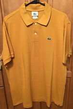 Lacoste Mens Polo Golf Shirt Size 6 Large L Cotton Short Sleeve Mustard Gold