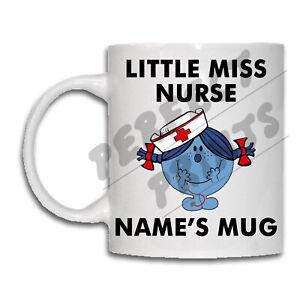 LITTLE MISS Personalised Mug NAME Coffee Tea Cup Christmas Gift Idea Birthday