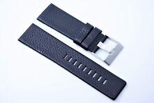 Herren Uhrenarmband Echtleder 26 mm Schwarz für DIESEL Uhren DZ 4290 1347 4291